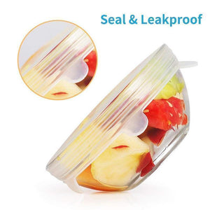Silicone stretchable container fresh-keeping cover