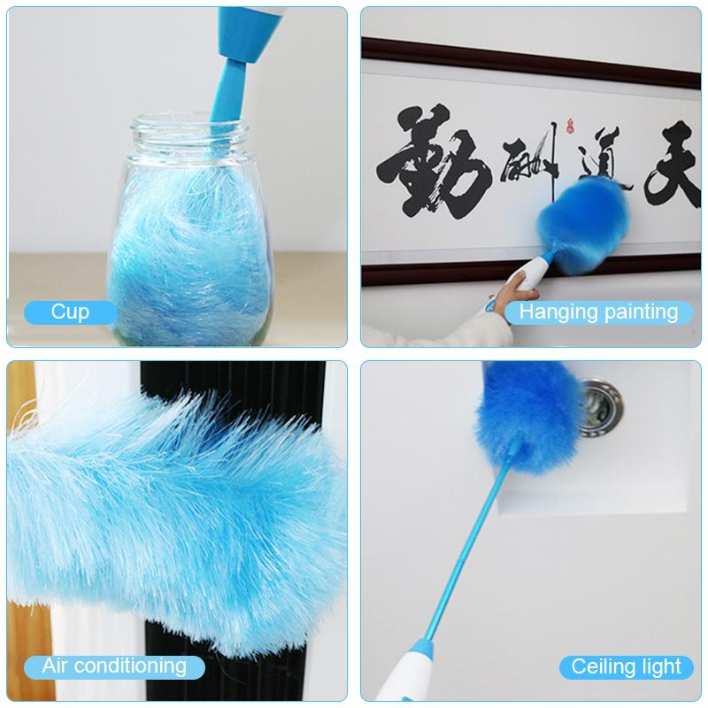 New Electric  Spin Duster Adjustable Dust Cleaner Cleaning Brush