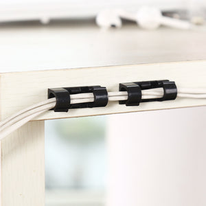 Wire storage cable organizer cable clamp