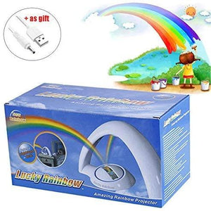 Rainbow LED projection color change magic lamp