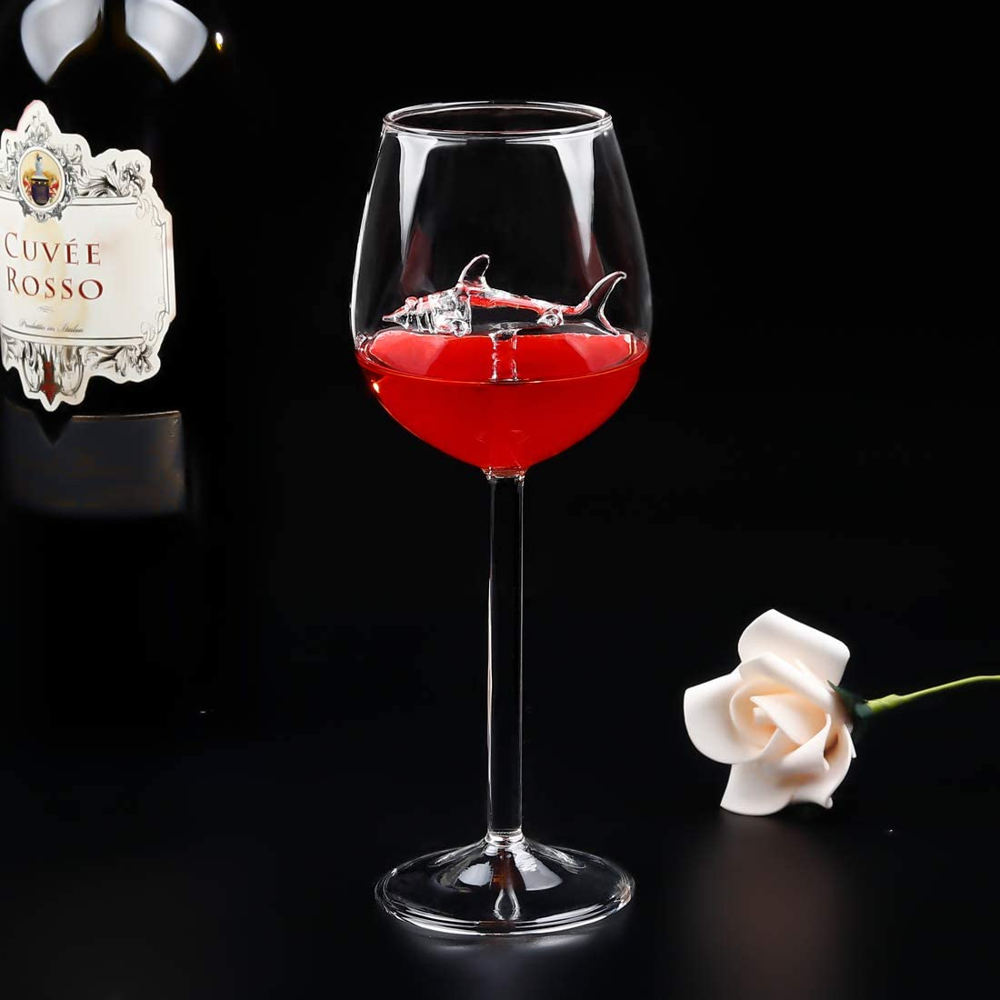【HOT SALE!!!!,BUY 2 FREE SHIPPING !!!】shark Red wine Goblet 🦈