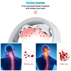 【Father's Day Offer】Intelligent thermal pulse portable neck massager