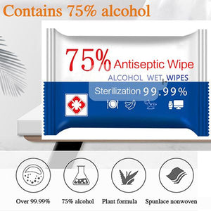 Last Day Promotion-75% Alcohol Portable Disinfection Wipes