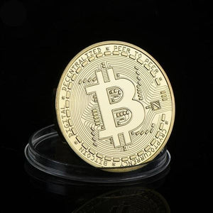Gold Plated Memorial Bitcoin-Non-Circulation Currency