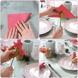 10pcs Flower Napkin Holders for DIY Table Wedding Party