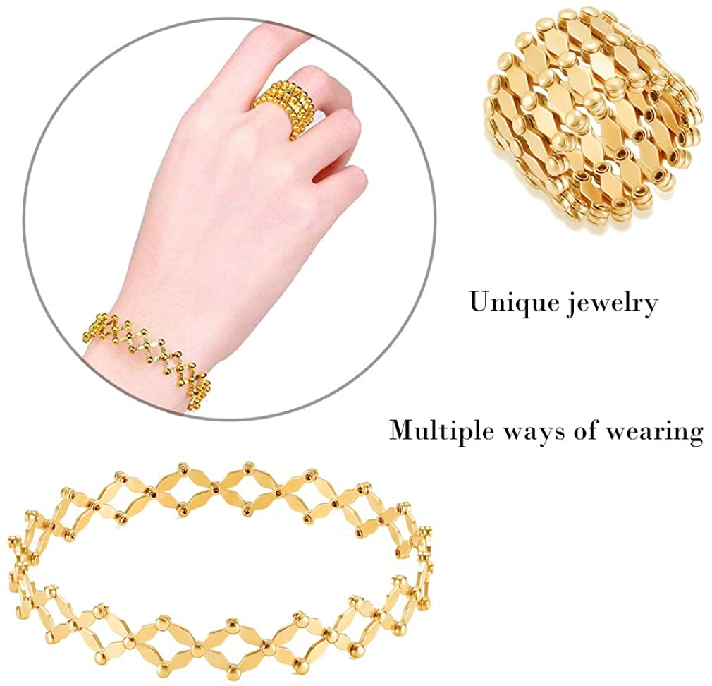 Three-in-one retractable ring bracelet necklace