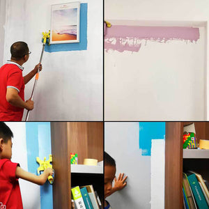 Color separation roller brush wall paint brush