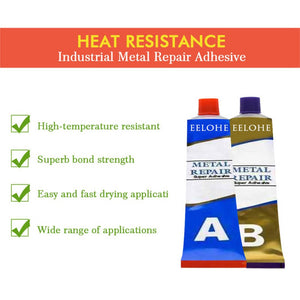 High-strength metal repair agent casting glue