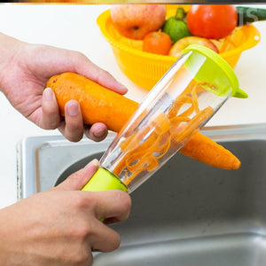 Fruit and vegetable storage peeler