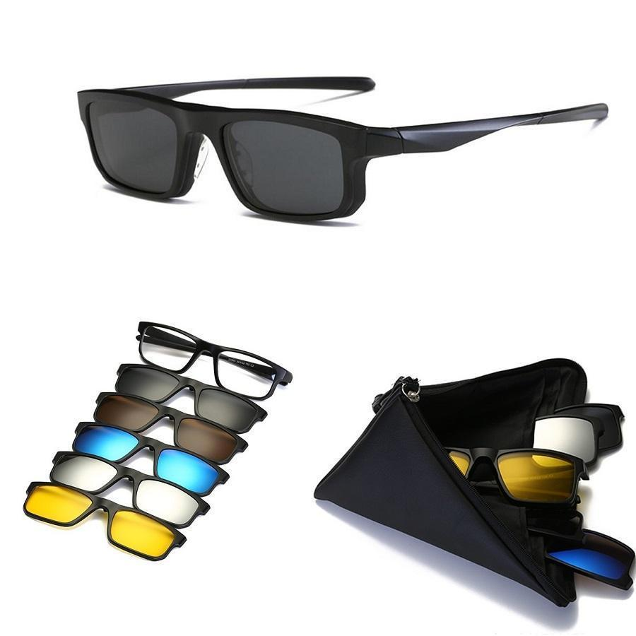 5 IN 1 Magnetic Lens Swappable Sunglasses(Send 5Pcs Magnetic Sunglasses Clip!!!)