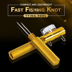 Fish hook quick knotting tool