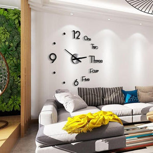 【BUY 2 FREE SHIPPING】Modern Design 3D DIY Wall Sticker Clock