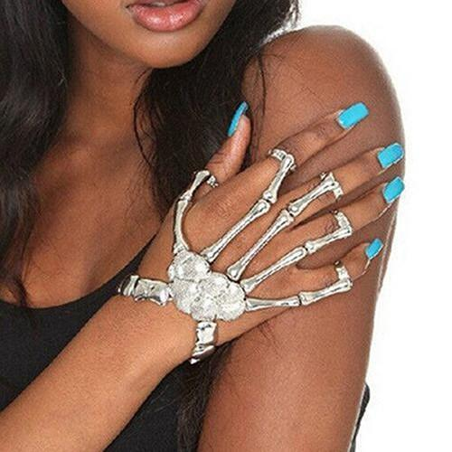 Skeleton Hand Bracelet (Adjustable Size)