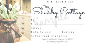 Cottage Gift Certificate
