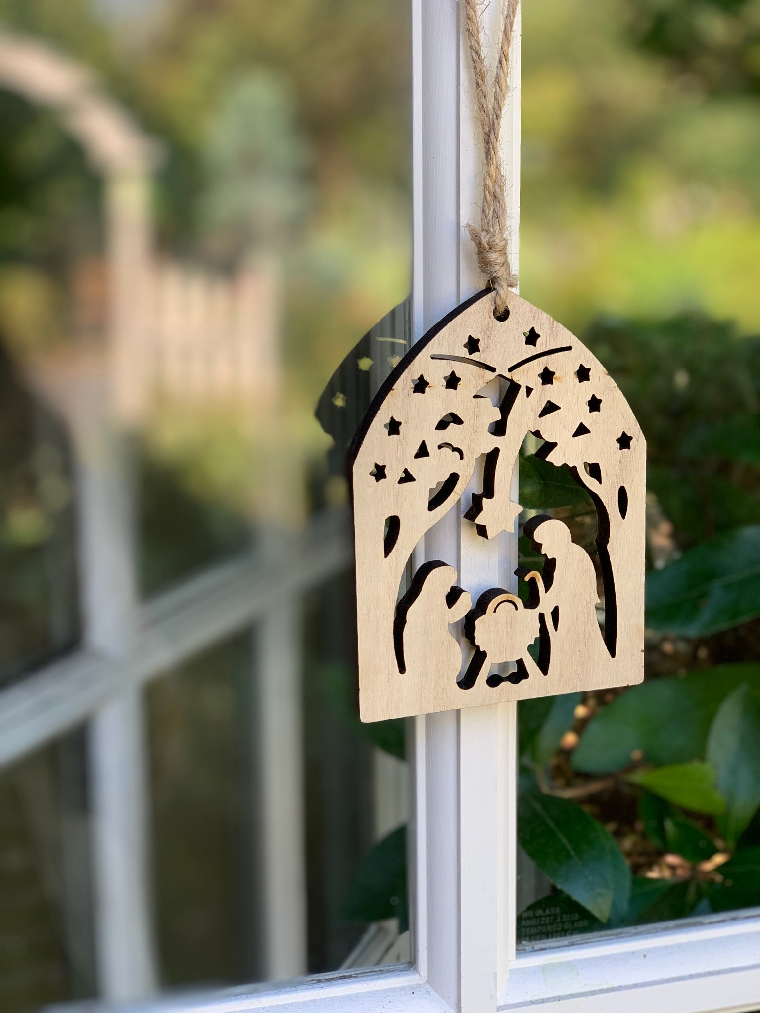 Paulownia Wood Nativity Ornaments