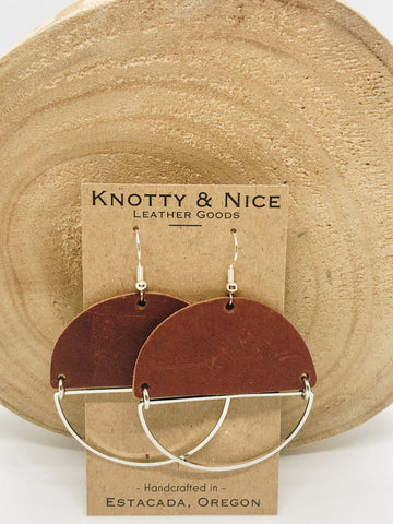 Half Moon Leather Earrings