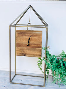 Iron and Wood Clock