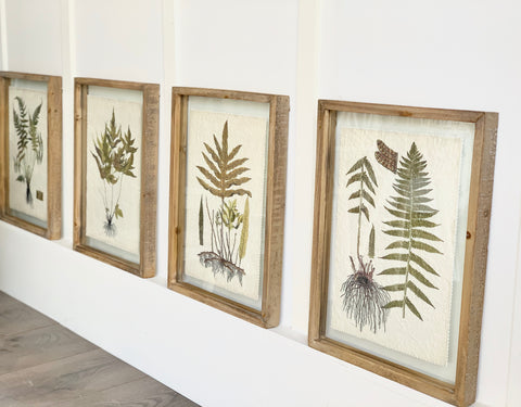 Wood Framed Botanicals