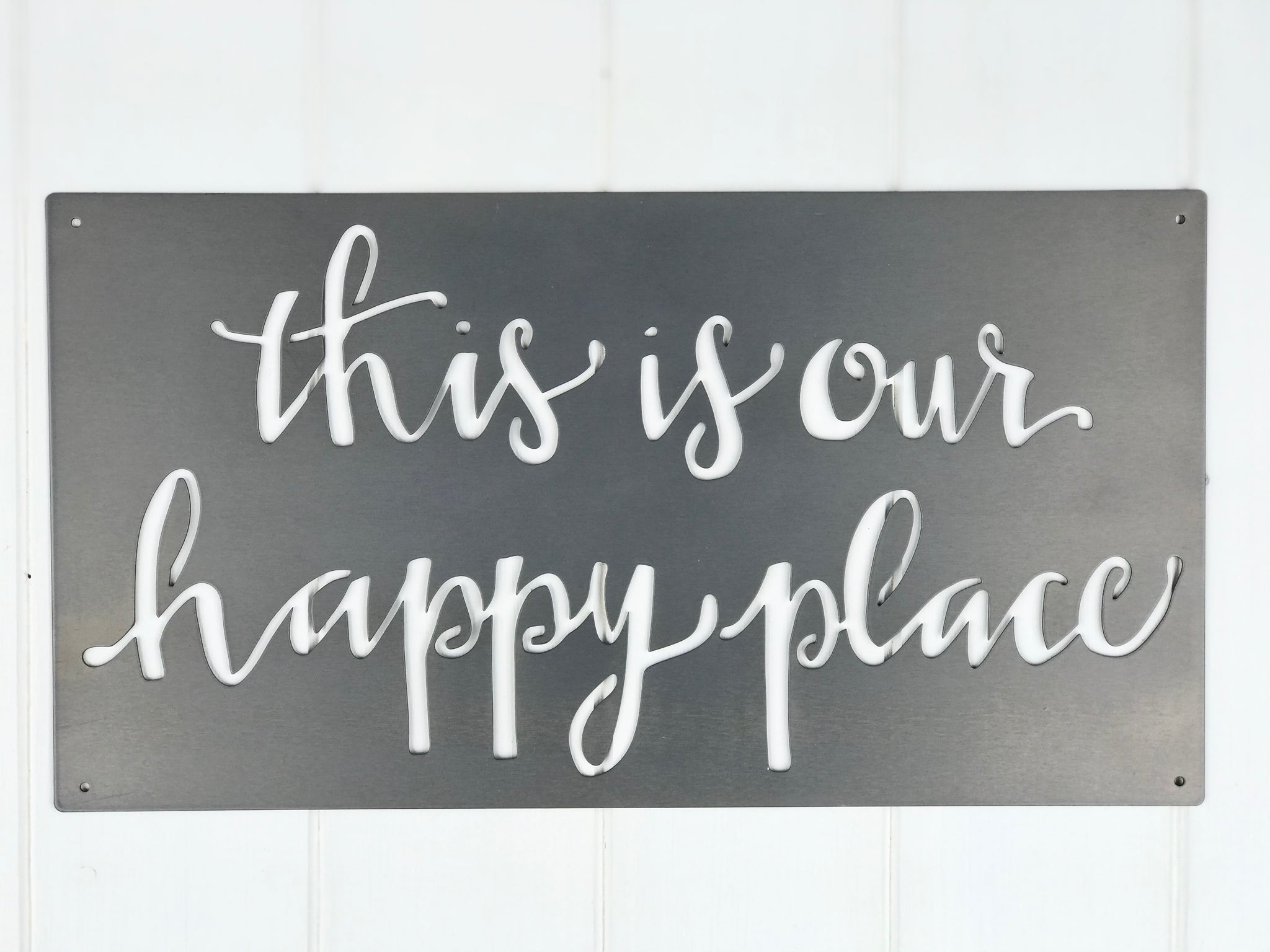 """Our Happy Place""  Metal Wall Art"