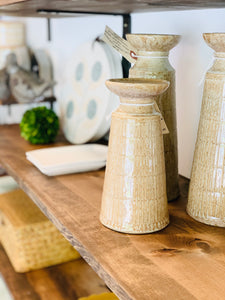 Stoneware Reactive Glaze Candle Holders~2 Sizes