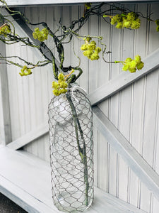 Tall Wire Wrapped Bottle Vase