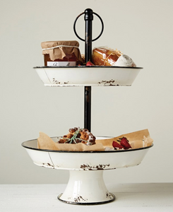 Enamel Two Tier Stand~Coming Soon!