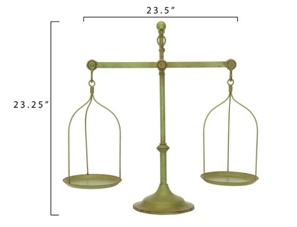 Distressed Green Metal Scale