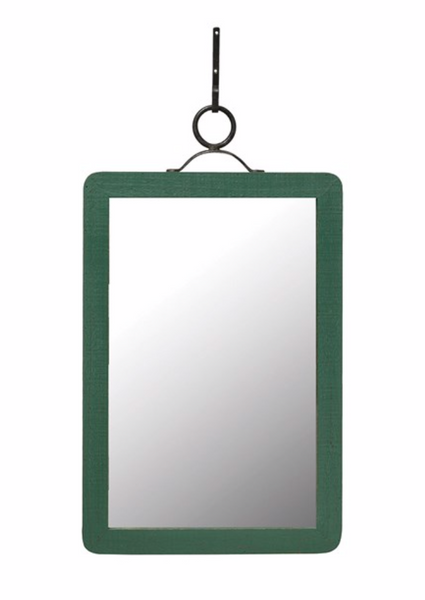Green Wood Framed Mirror