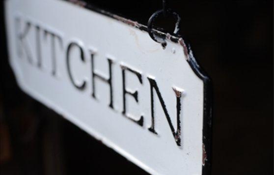 Enamel Kitchen Sign