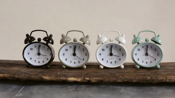 Tiny Metal Alarm Clock~New