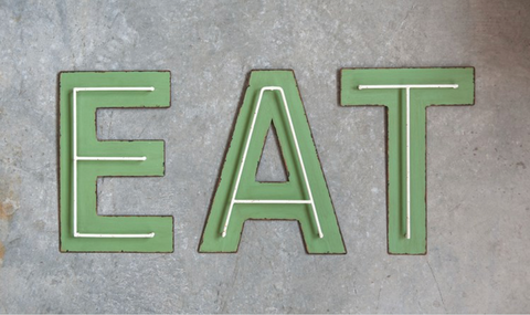 "Decorative Metal ""EAT"" Letters"