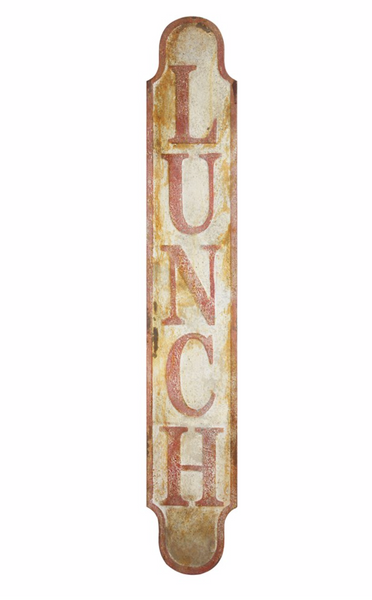 Rusty Metal Lunch Sign