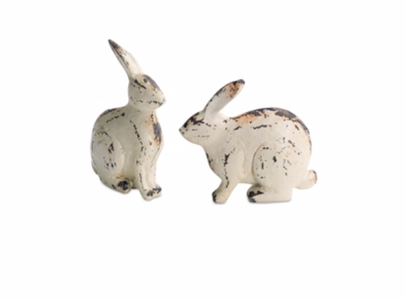 Set of 2 Distressed Rabbits