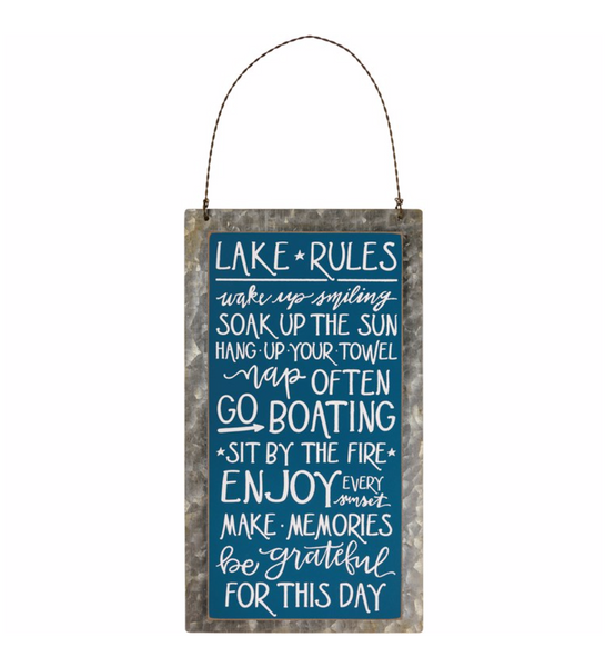 Lake Rules Hanger
