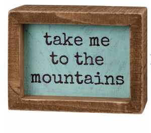 Mountains Box Sign