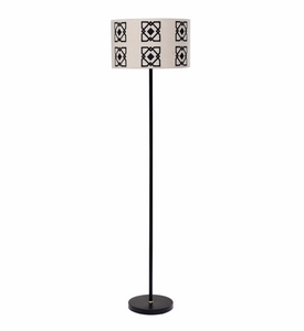 Floor Lamp with Embroidered Shade