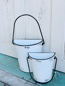 Enamel Wall Pail 2 Sizes
