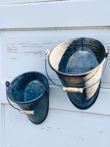 Metal Wall Pail~2 Sizes