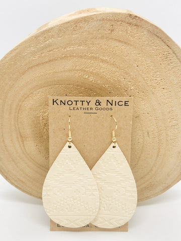 Embossed Leather Earrings