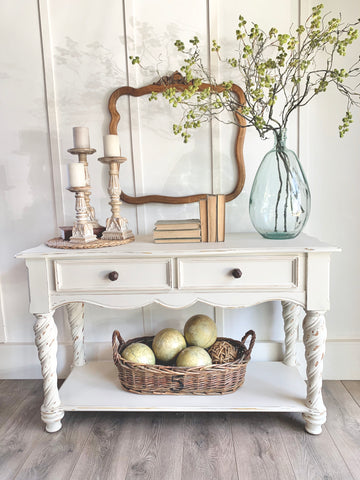 Cottage White Sofa Table