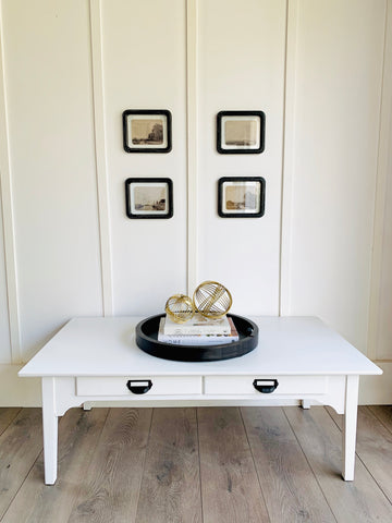 Simple White Coffee Table