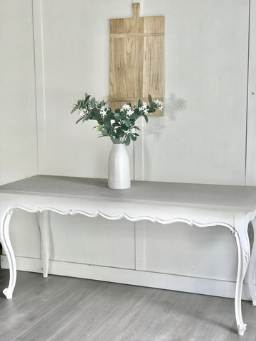 White & Grey Entry Table