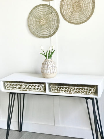 White Entry Table