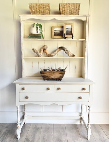 Cute Little Cottage White Hutch