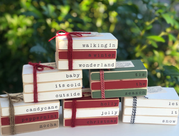 (Christmas) Mini Book Stack