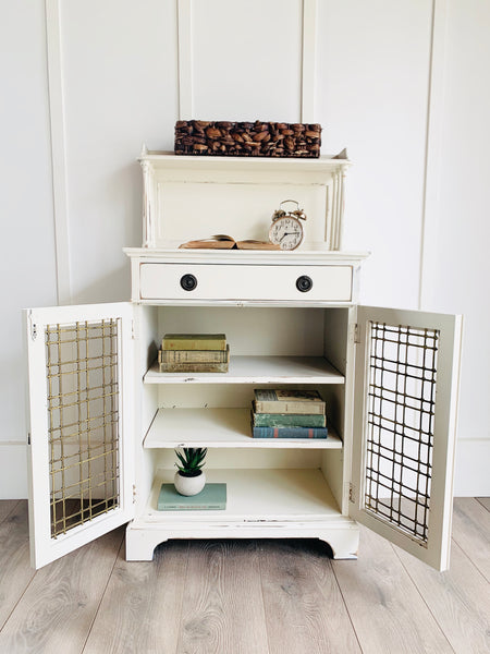 Antique Cabinet in Cottage White
