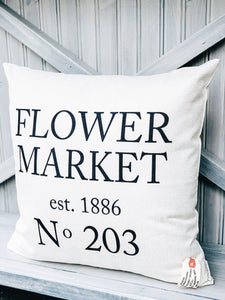 Flower Market Pillow