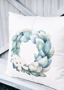 Magnolia Wreath Pillow
