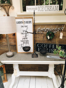Gazebo White Sofa Table