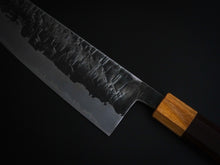 Load image into Gallery viewer, KAWAMURA KUSABI MIGAKI GYUTO SHIROGAMI #2 STAINLESS CLAD 210MM HONDURAS HANDLE
